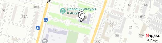 Детская музыкальная школа №12 на карте Ленинска-Кузнецкого
