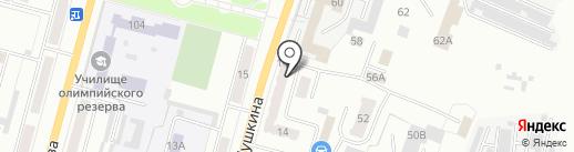 Милана на карте Ленинска-Кузнецкого