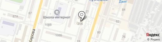 Центральное охранное агентство на карте Ленинска-Кузнецкого