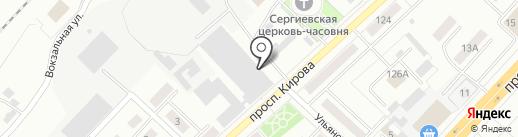 Технологическая связь на карте Ленинска-Кузнецкого