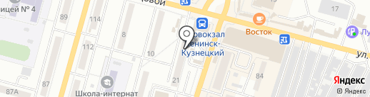 Атом на карте Ленинска-Кузнецкого