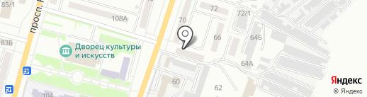 Аптека №1 на карте Ленинска-Кузнецкого