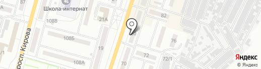 Бочка на карте Ленинска-Кузнецкого