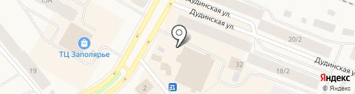 Магазин женской одежды на карте Дудинки