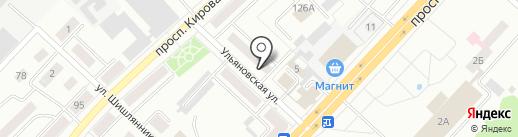 Магазин хозяйственных товаров на карте Ленинска-Кузнецкого