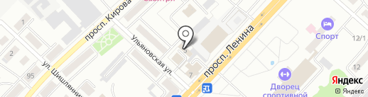 Сиб-Ханзен на карте Ленинска-Кузнецкого