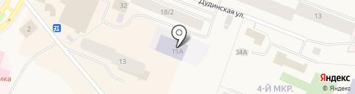 Рябинка на карте Дудинки