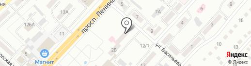 Почтовое отделение связи №7 на карте Ленинска-Кузнецкого