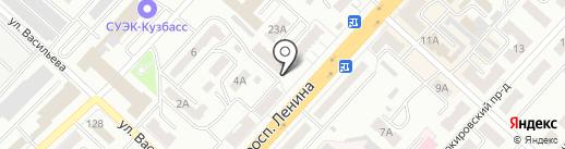 Нотариус Тагакова Н.М. на карте Ленинска-Кузнецкого