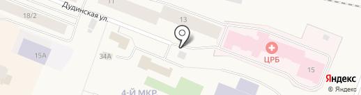 Анкор на карте Дудинки