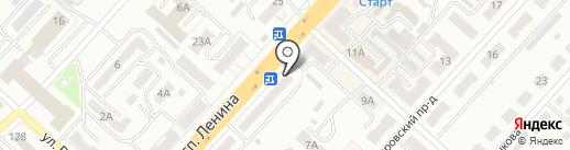 Сибирская недвижимость на карте Ленинска-Кузнецкого