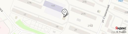 Гранит на карте Дудинки