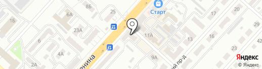 Фодос на карте Ленинска-Кузнецкого