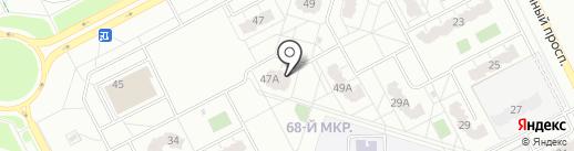 Фонд развития жилищного строительства Кемеровской области, НО на карте Кемерово