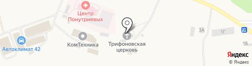 Храм во имя мученика Трифона на карте Металлплощадки