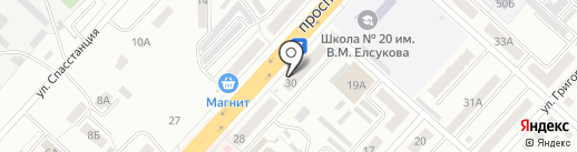 Финтерра на карте Ленинска-Кузнецкого