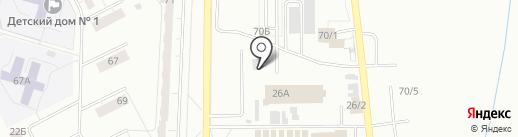 Магазин по продаже фастфудной продукции на карте Кемерово