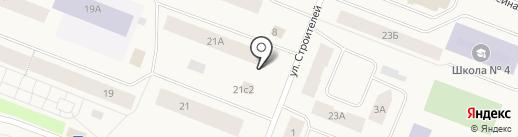 Магазин овощей на карте Дудинки