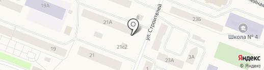 Овощной магазин на ул. Щорса на карте Дудинки