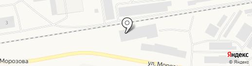 Компания по уборке снега на карте Дудинки