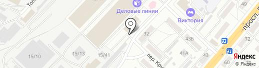 Автостоянка у Завода на карте Ленинска-Кузнецкого