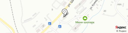 Шахтёрский на карте Ленинска-Кузнецкого