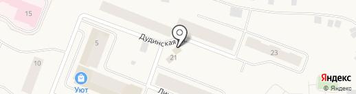 Енисей на карте Дудинки