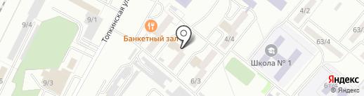Радуга на карте Ленинска-Кузнецкого