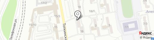 Калинка на карте Ленинска-Кузнецкого
