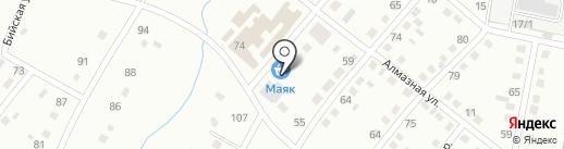 Маяк на карте Ленинска-Кузнецкого