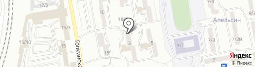 Почтовое отделение связи №17 на карте Ленинска-Кузнецкого