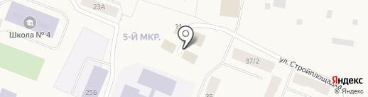 Пятый угол на карте Дудинки
