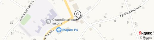 Сибирь на карте Старобачатов