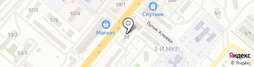Пивточка на карте Ленинска-Кузнецкого