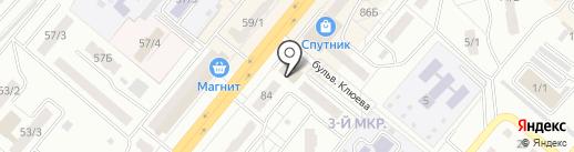 Акварель на карте Ленинска-Кузнецкого