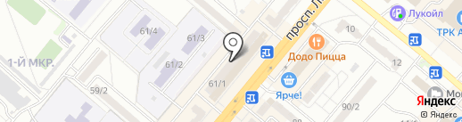 Иня на карте Ленинска-Кузнецкого