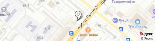 Магнолия на карте Ленинска-Кузнецкого