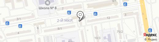 Чибис на карте Ленинска-Кузнецкого