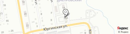 Шиномонтажная мастерская на карте Ленинска-Кузнецкого