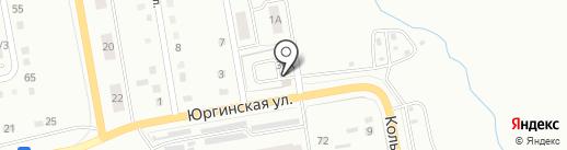 Автостоянка на карте Ленинска-Кузнецкого