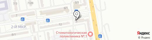 Аптеки Кузбасса на карте Ленинска-Кузнецкого