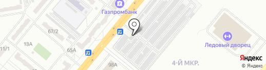 Рико на карте Ленинска-Кузнецкого