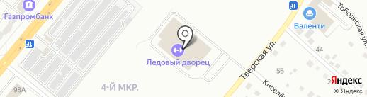 Ледовый дворец спорта на карте Ленинска-Кузнецкого