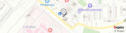 Гуринские бани на карте Ленинска-Кузнецкого