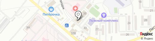Скрепка на карте Ленинска-Кузнецкого