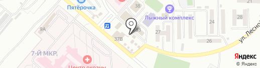 Киоск по ремонту обуви на карте Ленинска-Кузнецкого