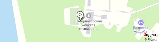 Боярская усадьба на карте Елыкаево