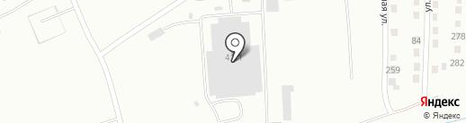 Магазин колбасных изделий в Линейном переулке на карте Белово