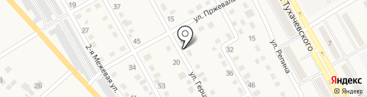 Автосервис на ул. Герцена на карте Нового Городка
