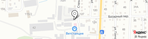 Сеть продуктовых магазинов на карте Белово